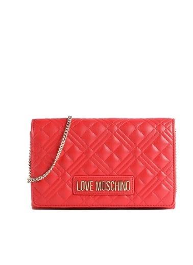 Love Moschino   Marka Logolu Kapitoneli Zincir Askılı Omuz Çanta Kadın Çanta Jc4079Pp1Cla2500 Kırmızı